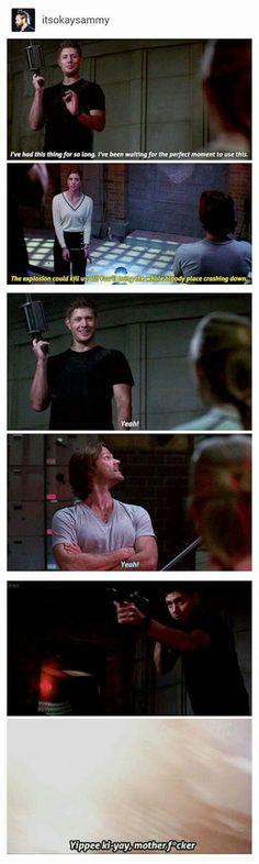Grenade launcher/Dean Supernatural 12x23