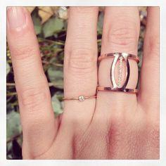 Nathalie De Schepper (@Nathalie De Schepper ) loves our Between the Lines ring!