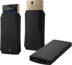 Funda piel negra Sony Ericsson Xperia ray #geek #tecnologia #oferta #regalo #novedades