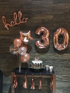 Man Birthday Party Decorations Diy 40 Ideas For 2020 30th Party, Gold Birthday Party, 30th Birthday Parties, Birthday Party Themes, Thirty Birthday, Man Birthday, Birthday Cakes, Simple Birthday Decorations, Diy Party Decorations