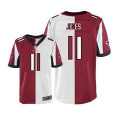 7959f5471 Nike Julio Jones  11 Atlanta Falcons Mens Limited Team Road Two Tone NFL  Jersey Julio