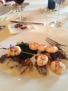 Scallops and spinach   Les Anderly, France