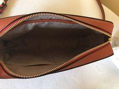 882430b0fc8d0b Michael Kors Jet Set Travel Large EW Saffiano Crossbody Bag in Orange(Sale)  $99.5