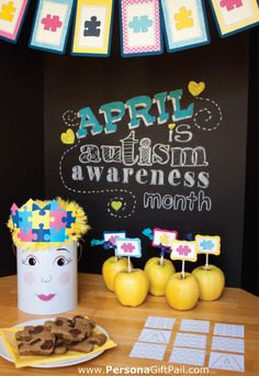 April is Autism Awareness month!  Persona Designs teamed up with the Purple Pug, Two Prince bakery Theater and PS. Make It Your Own to create Awareness and bring joy to the children of LifeSkills Academy of Orlando.  #Autism #awareness   ~ the photo shoot was inspired by the chalkboard pins on in this pinterest board.  Light it up BLUE!