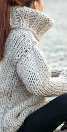 Chunky wool turtleneck sweater | BIG THICK BULKY Turtleneck ...