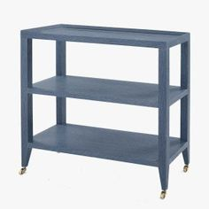 Isla Navy Grasscloth Console Table