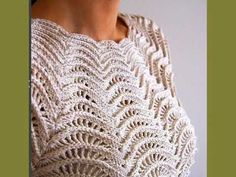 पुलओवर के लिए क्रोकेट पैटर्न - Crochet pattern for pullover - 套衫的鉤針編織圖案 Crochet Lace Edging, Crochet Tank, Crochet Blouse, Crochet Doilies, Crochet Stitches, Knit Crochet, Crochet Toys Patterns, Crochet Designs, Knitting Patterns