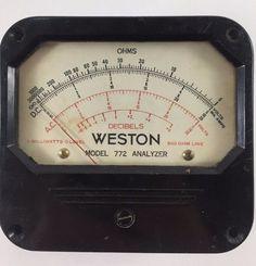Vintage Weston Analyzer Ohms Decibels Electrical Meter Steampunk Mancave #Weston