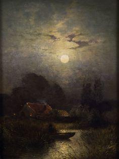 Sophus Jacobsen In the moonlight