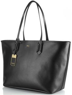 33cad239778f Lauren by Ralph Lauren - Black Tate Classic Leather Tote Bag - Lyst