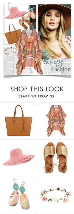Sem título #1024 by sheilafelix on Polyvore featuring moda, Calypso St. Barth, Kaanas, Michael Kors, Ippolita, Accessorize, Eric Javits, Agave and Prada