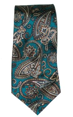 Vintage Liberty of London paisley print silk necktie tie by sweetalicelovesyou on Etsy