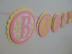 Baby Girl Banner  Pink and Yellow Baby Shower by AshleyAnnaMarie