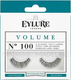 Eylure Naturalites VOLUME Lashes N° 100 provide a classic, fully laden style for an ample,  regular lash look.  Suitable for all eyeshapes, they are ideal for regular wear or a special occasion. #eylurelashes #falsies