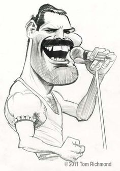 Fred Mercury by Tom Richmond