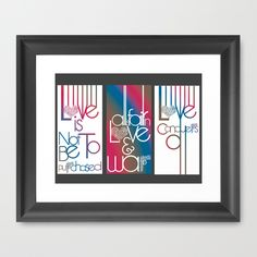 love Framed Art Print by Jaymee - $40.00