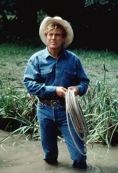 """Robert Redford en """"El Hombre que Susurraba a los Caballos"""" (The Horse Whisperer), 1998"""