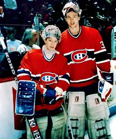 J. S. Giguere (L) and Patrick Roy (R)