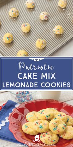 These cake mix lemonade cookies are SO GOOD. They melt in your mouth and are ridiculously easy to make - they require just a few ingredients and little effort. You can add the sprinkles to make them patriotic (or any other sprinkles for another occasion!) or leave them out - they won't affect the recipe at all! So good all year round!