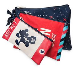 Mickey and Minnie Mouse Disney TAG Cosmetic Bag Set   Disney Store