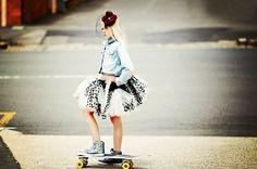 #girls #skate boards #flowers