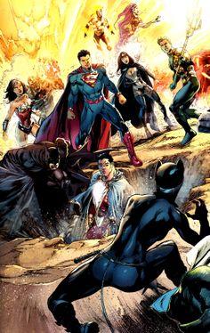 Pinner before:jthenr-comics-vault:  Justice League #22 Art by Ivan Reis & Rod Reis