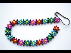 "Фенечка ""Цветочки"" Из Бисера/Beaded Daisy Chain Stitch Tutorial"
