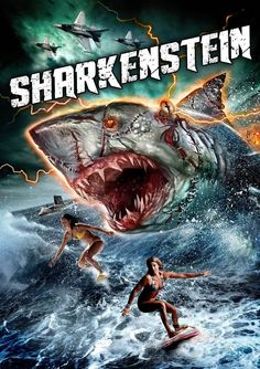 埋め込み画像 Sharkenstein (2016; undead shark monster) https://en.wikipedia.org/wiki/List_of_natural_horror_films#Sharks