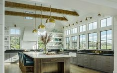 This contemporary farmhouse borrows its inspiration from the historic connected farm buildings of New England. The house sits comfortably amid pastures, barns and farmhouses, which have populated t…