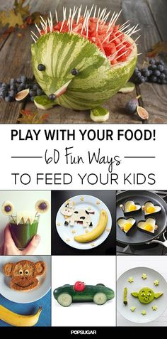 Roliga sätt att servera mat, bl.a. en fin segelbåt / Play With Your Food! 60 Fun Ways to Feed Your Kids