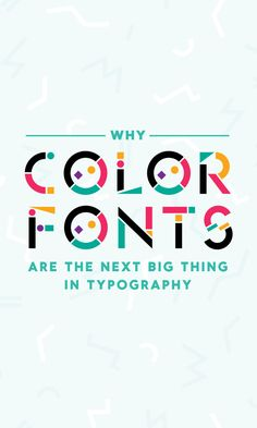 On the Creative Market Blog - Why Color Fonts Are The Next Big Thing in Typography