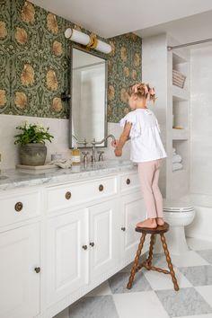 Kid's Bathroom Design Ideas with Tile to Grow Into Guest Bathrooms, Downstairs Bathroom, Bathroom Kids, Bathroom Renos, Bathroom Faucets, Girl Bathroom Ideas, Basement Bathroom Ideas, Guest Bathroom Remodel, Kids Bath