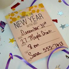 New Year's Eve Party Templates: Invitations, Wine Tags, and Food Flags!