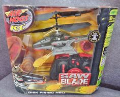 Description: Air Hogs Rc Sawblade Disk Firing Heli Disks Fly Up To 30 Feet/  Ages 10 Yrs Advanced/  Item ID: 15 TARGE