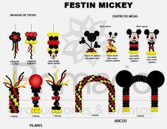 Globos de Mickey - Imagui