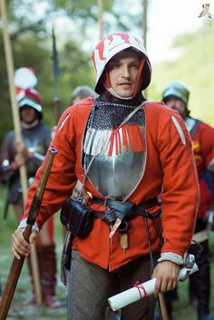 Late 15th century handgunner wearing a painted sallet