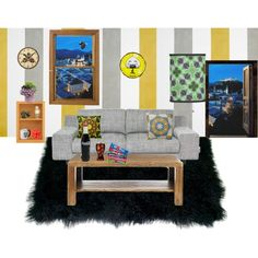 """Wallpaper Living room"" by ziernor on Polyvore"