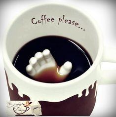 Coffee Please! Cool, but the hand would get in the way of stirring my coffee! Coffee Talk, I Love Coffee, Coffee Break, My Coffee, Coffee Drinks, Coffee Cups, Coffee Works, Coffee Girl, Coffee Maker
