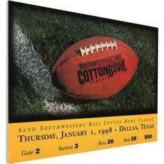 That's My Ticket Ucla Bruins 1998 Cotton Bowl Canvas Mega Ticket, Team