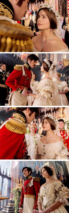 ITV's Victoria- Victoria and Albert's wedding - Jenna Coleman and Tom Hughes