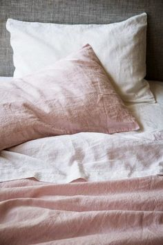Luxurious European flax linen sheets, duvet covers, pillowcases, throws, robes and more. Our linen is pre-washed for softness and is available in a range of CULTIVER colors. Pink Bed Linen, Linen Duvet, Dream Bedroom, Home Bedroom, Bedrooms, Bedroom Decor, Master Bedroom, Blush Bedroom, Master Suite