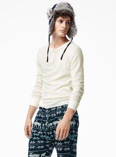 Henley Tee-Shirt   Simons #le31 #maisonsimons #sleepwear #pyjamas #christmas #gift