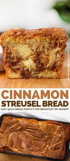 Low Unwanted Fat Cooking For Weightloss Cinnamon Streusel Bread Is An Easy Quick Bread With Buttermilk With A Cinnamon Swirl Topped With A Crispy Sugar Crust. Ideal For Breakfast Or Dessert Cinnamon Recipes, Quick Bread Recipes, Cooking Recipes, Easy Recipes, Top Recipes, Cinnamon Crumb Cake, Cinnamon Bread, Cinnamon Coffee, Apple Cinnamon