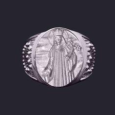 Anel Santa Patrícia em prata de Lei. Clique e veja mais detalhes!