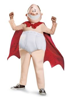 Your child will have fun dressing up as Captain Underpants in this deluxe costume.