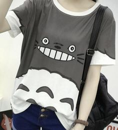 This is perfect for Summer! - This is perfect for any My Neighbor Totoro Lovers! - While Supplies Last! Limit 10 Per Order Please allow 4-6 weeks for shipping Item Type: Tops Fabric Type: Broadcloth C