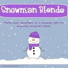 This file has 4 pages with 6 snowmen and 6 snowflakes each.  Match each snowflake with a snowman that has it's consonant blend (free!!)