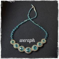 Koraliki tudzież: kolia w kolorze light turquoise