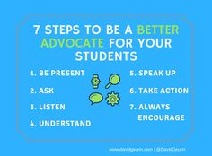 The @DavidGeurin Blog: 7 Steps to Be a Better Advocate for Your Students