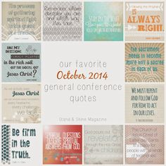 Stand & Shine Magazine: Our Favorite October 2014 General Conference Quotes